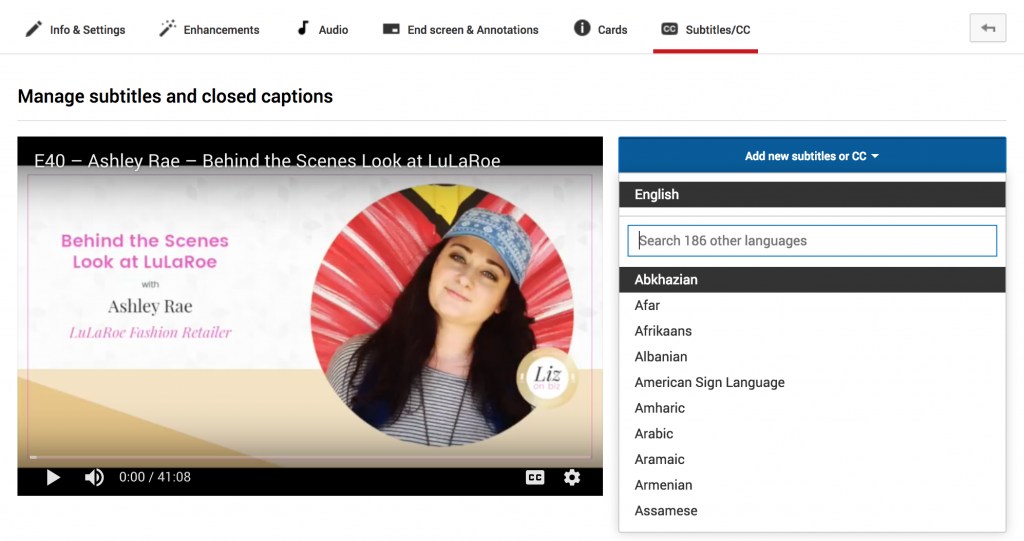 Add new subtitles - How to create subtitles for videos on Facebook