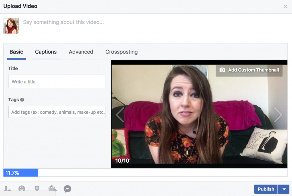 Facebook Upload - How to create subtitles for videos on Facebook